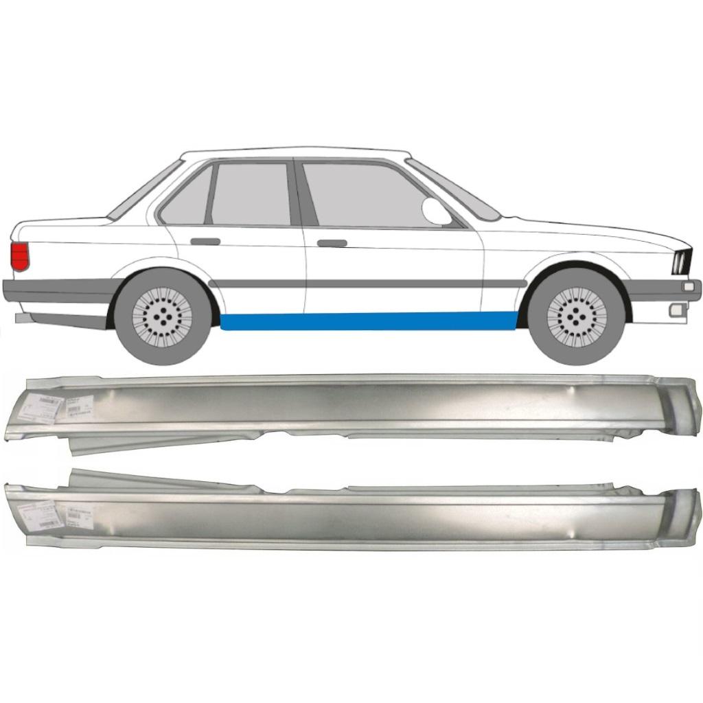 BMW 3 E30 1982-1993 4 TÜR SCHWELLE REPARATURBLECH PAAR