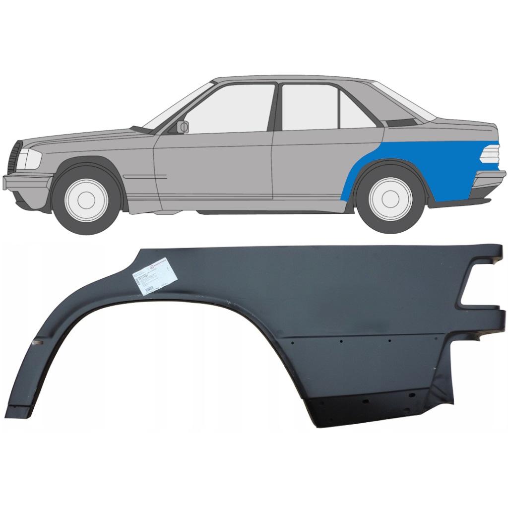 MERCEDES 190 1982-1993 HINTERER FLÜGEL REPARATURBLECH / LINKS
