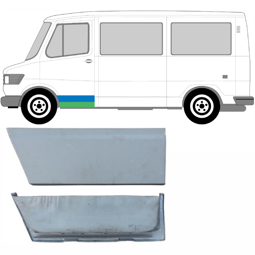 MERCEDES T1 1977-1996 FRONT DOOR REPAIR KIT / LEFT