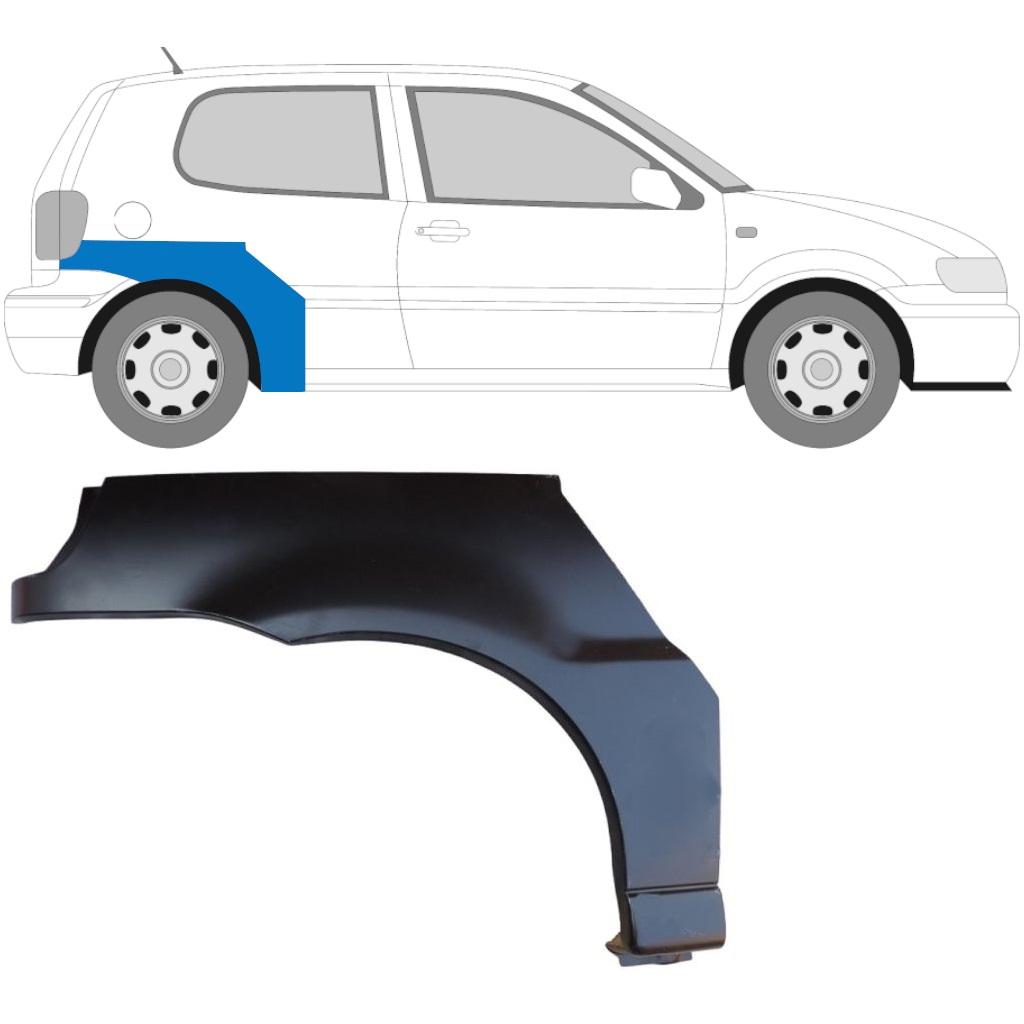 VW POLO 1999-2001 3 TÜR HINTERRADBOGEN REPARATURBLECH / RECHTS