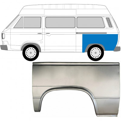 VW T3 1979-1992 HINTERER FLÜGEL REPARATURBLECH / LINKS