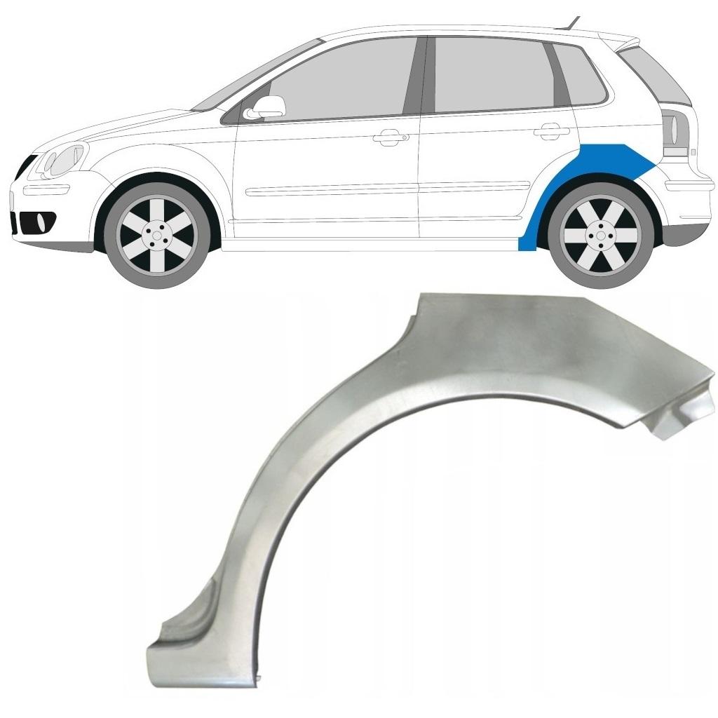 VW POLO 2001-2009 HINTERRADBOGEN REPARATURBLECH / LINKS